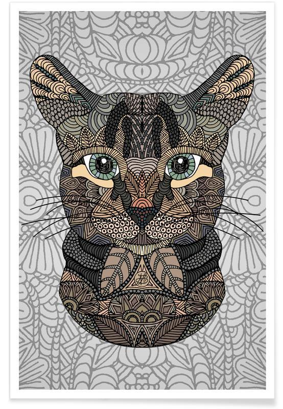 Chats, Chat géométrique affiche
