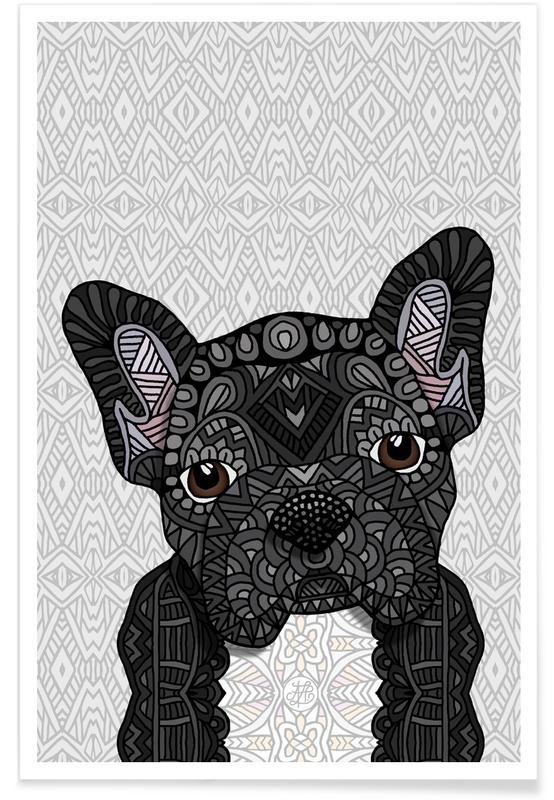 Geometrische Französische Bulldogge -Poster