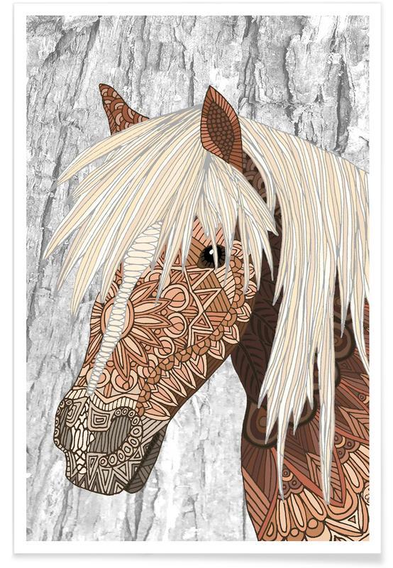 Geometric Horse Poster