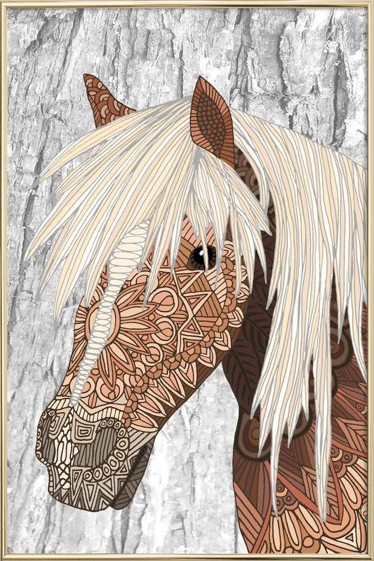 Haflinger -Poster im Alurahmen
