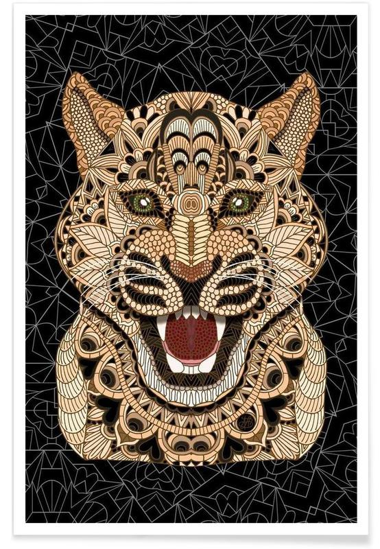 Geometrischer Leopard -Poster