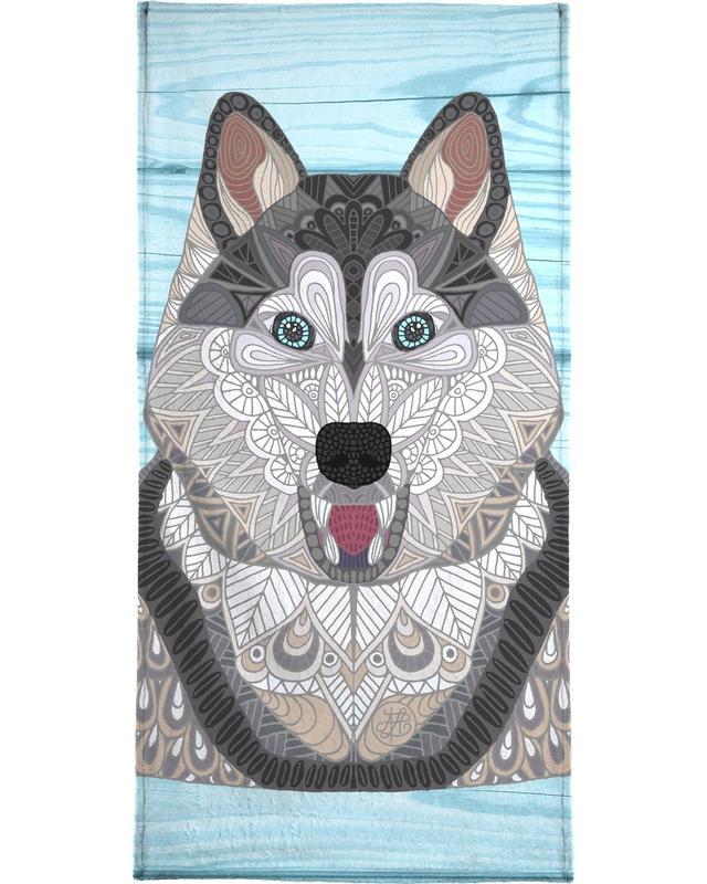 Wölfe, Happy Husky -Handtuch