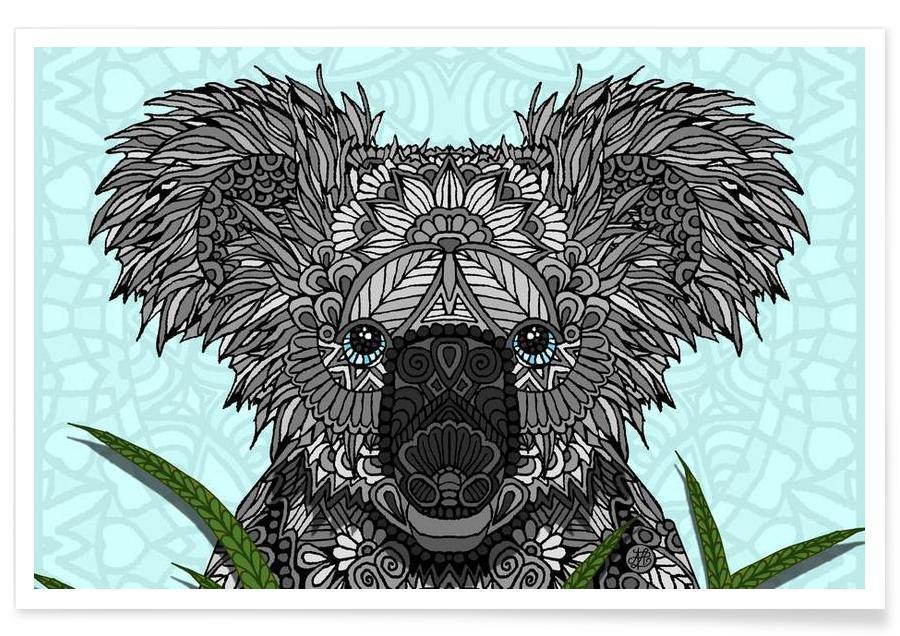 Koalas, Geometric Koala Poster