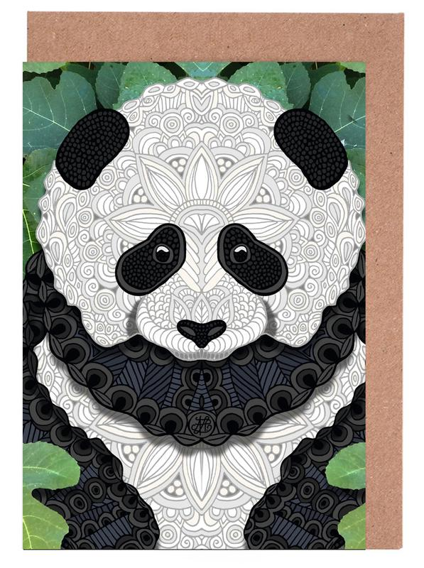 Panda Bear Greeting Card Set