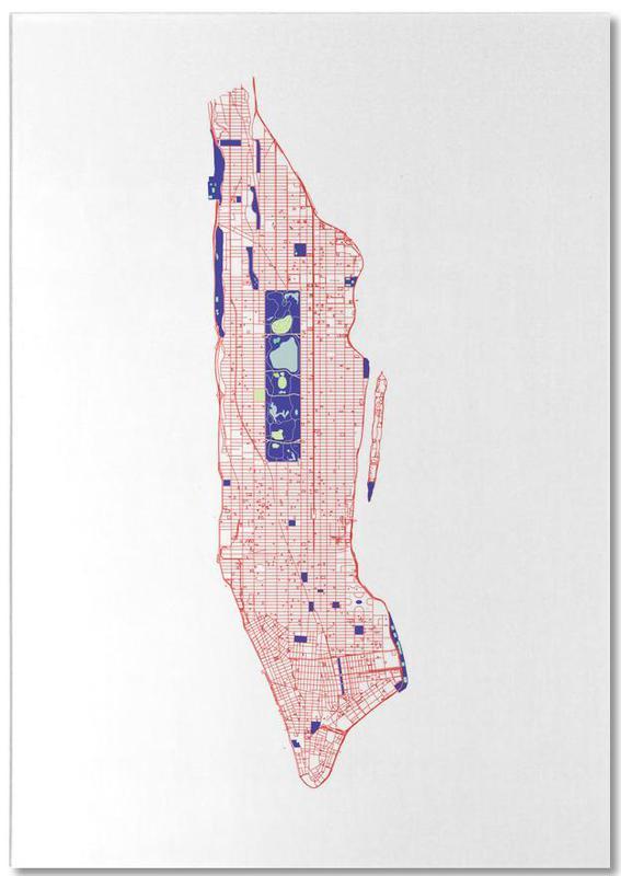 Cartes de villes, New York, Manhattan Grid bloc-notes