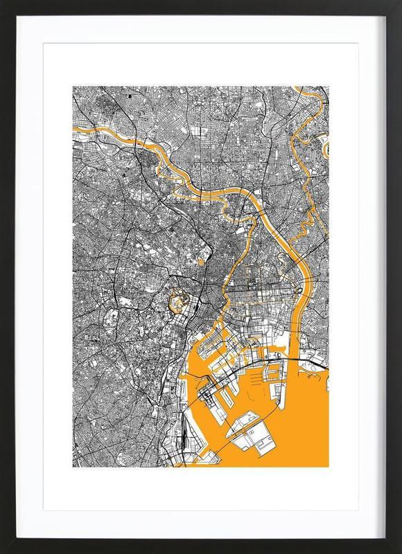 Orange Infusion In Tokio ingelijste print