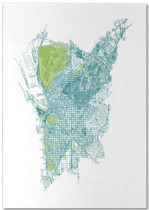 Barcelone, Cartes de villes, Barcelona Pattern No Pattern bloc-notes