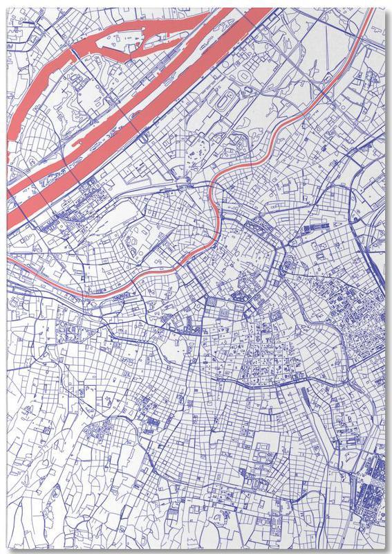 Cartes de villes, Vienne, Vienna bloc-notes