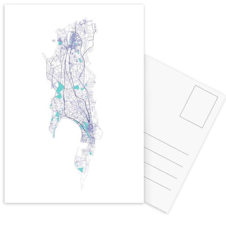 City Maps, Mumbai Postcard Set