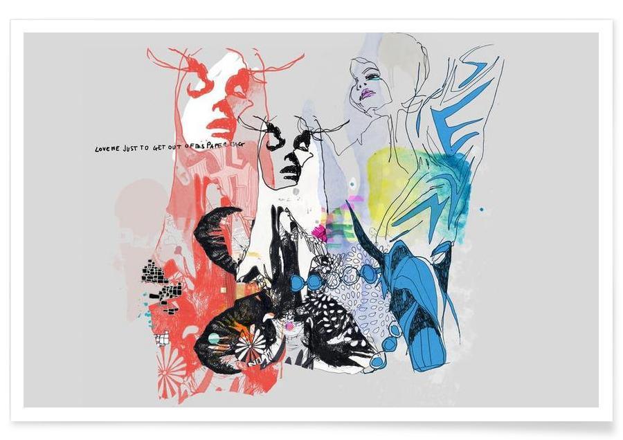 Illustrations de mode, Paper Bag affiche
