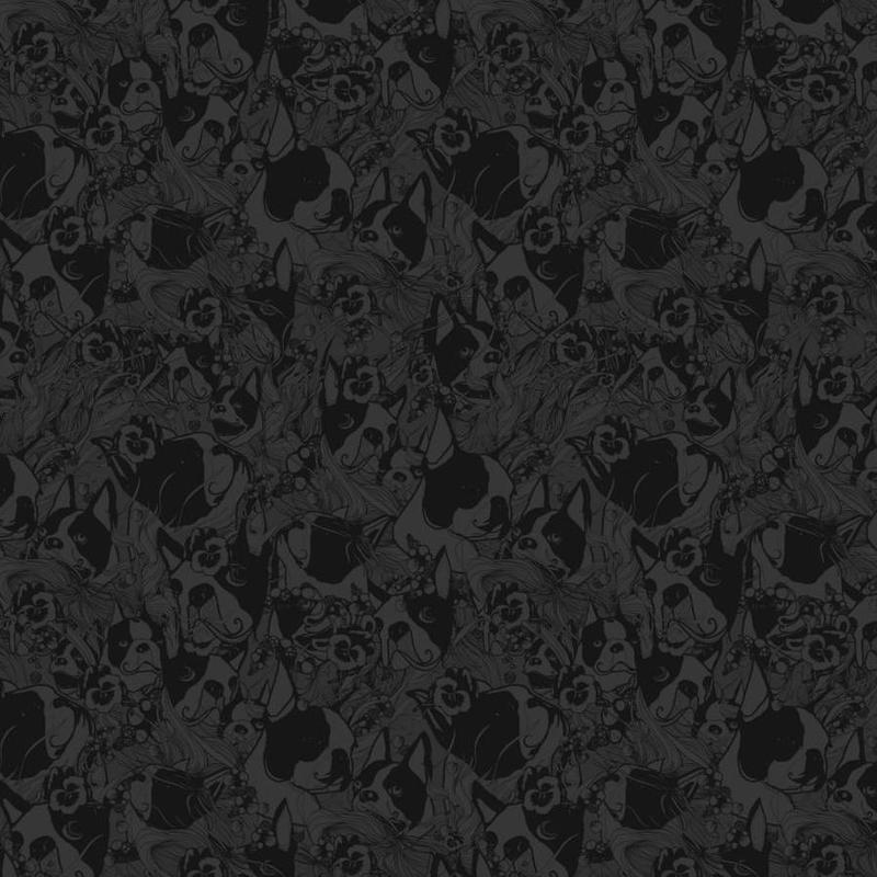 Boston Black canvas doek