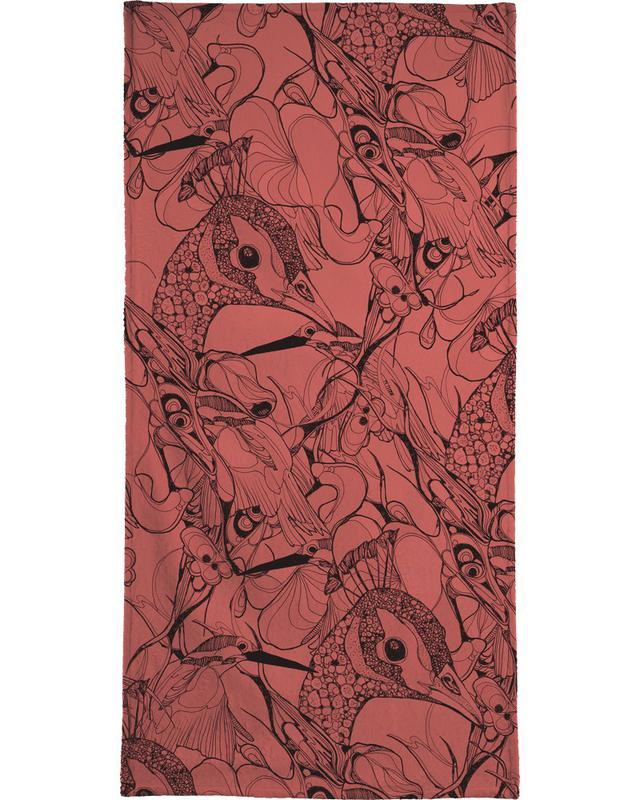 Peacock Red Bath Towel