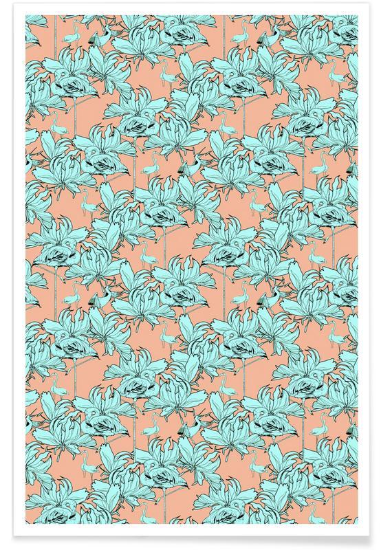 Flamingos, Patterns, Ragno Modulo 1 Poster