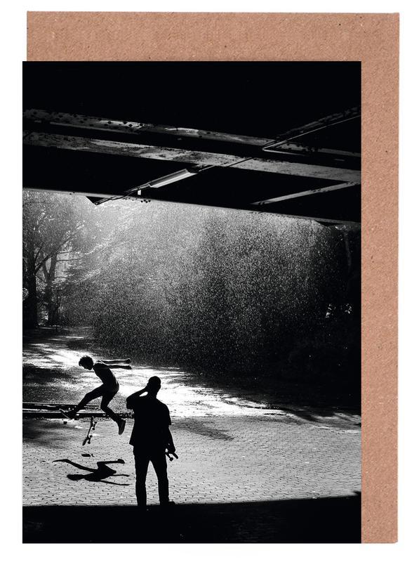 Schwarz & Weiß, Skating, 360° Flip x Dry Spot -Grußkarten-Set