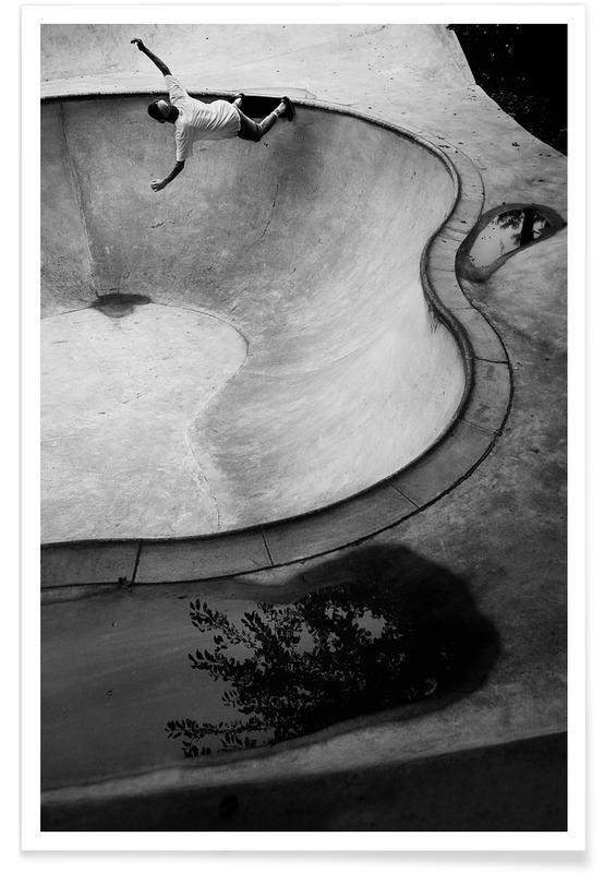 Schwarz & Weiß, Skating, Kidney x Slasher -Poster
