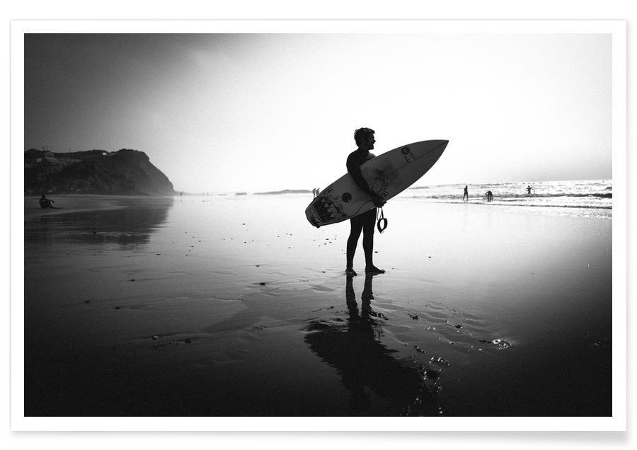 Schwarz & Weiß, Surfen, Off for a Surf I -Poster