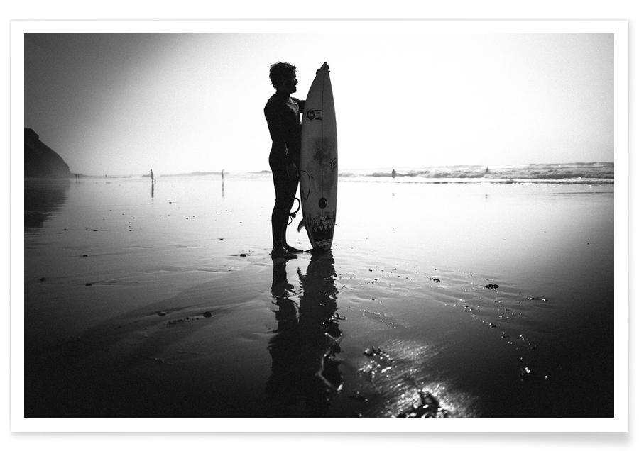 Schwarz & Weiß, Surfen, Off for a Surf II -Poster