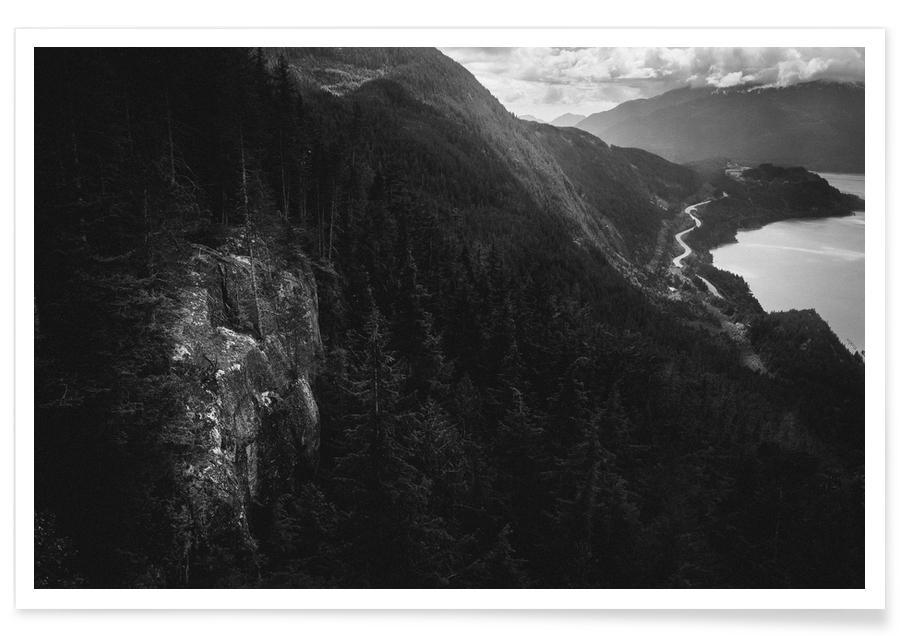 Berge, Schwarz & Weiß, Canada 10 -Poster