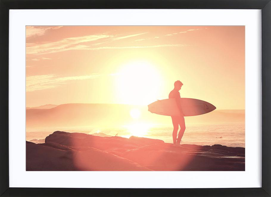 Early Surf x Anchor Point Framed Print