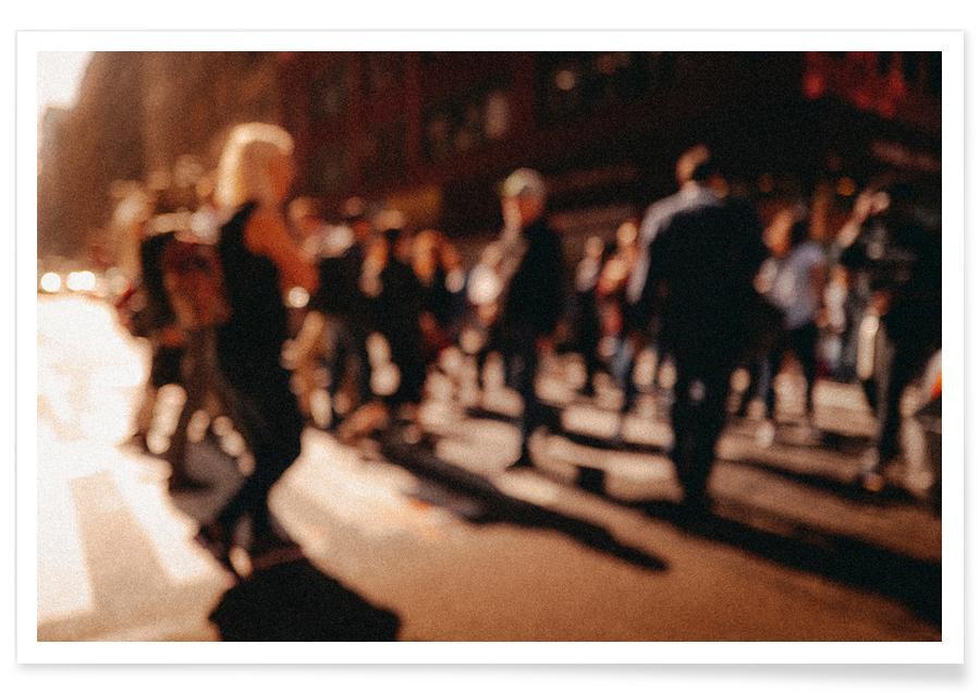 New York, Reise, Crowd -Poster