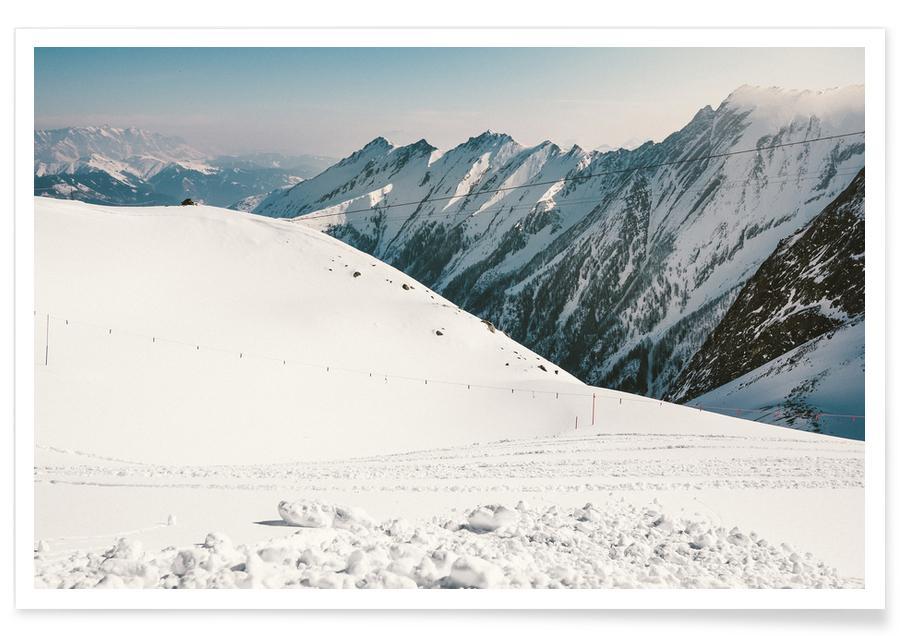 Montagnes, Ski & snowboard, Off for a Walk affiche