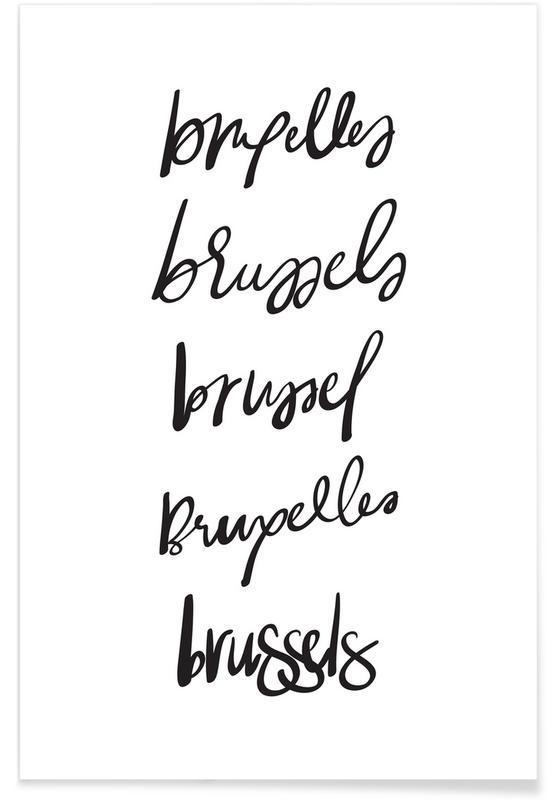 Black & White, Brussels Poster