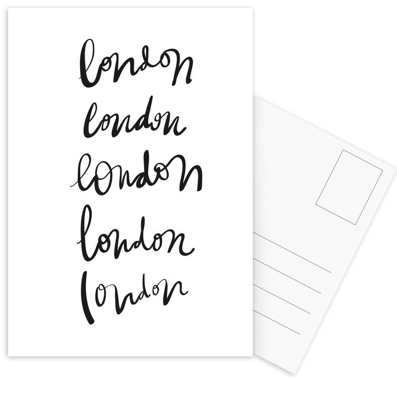 Black & White, London, London Postcard Set