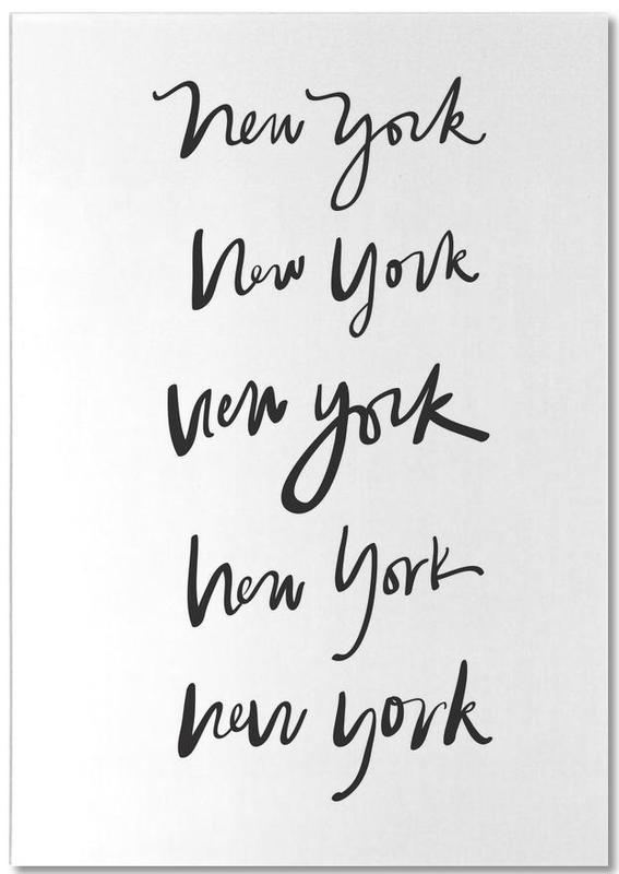 Noir & blanc, New York, New York bloc-notes