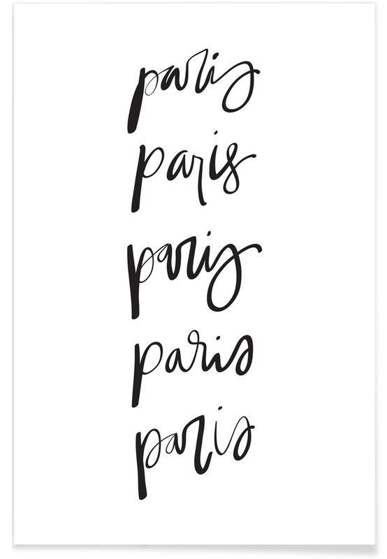 Black & White, Paris, Paris Poster