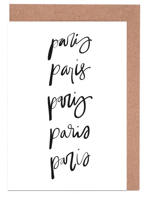 Black & White, Paris, Paris Greeting Card Set
