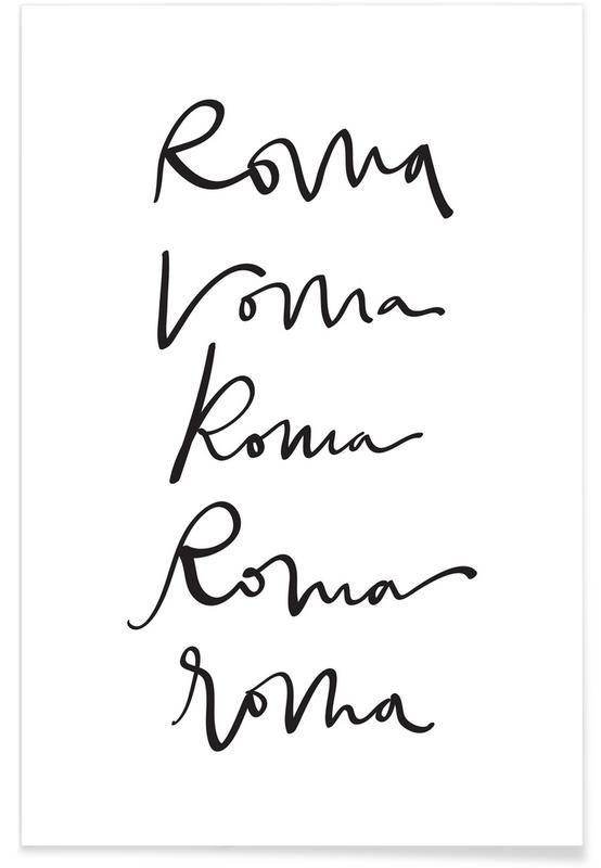 Black & White, Rome, Rome Poster