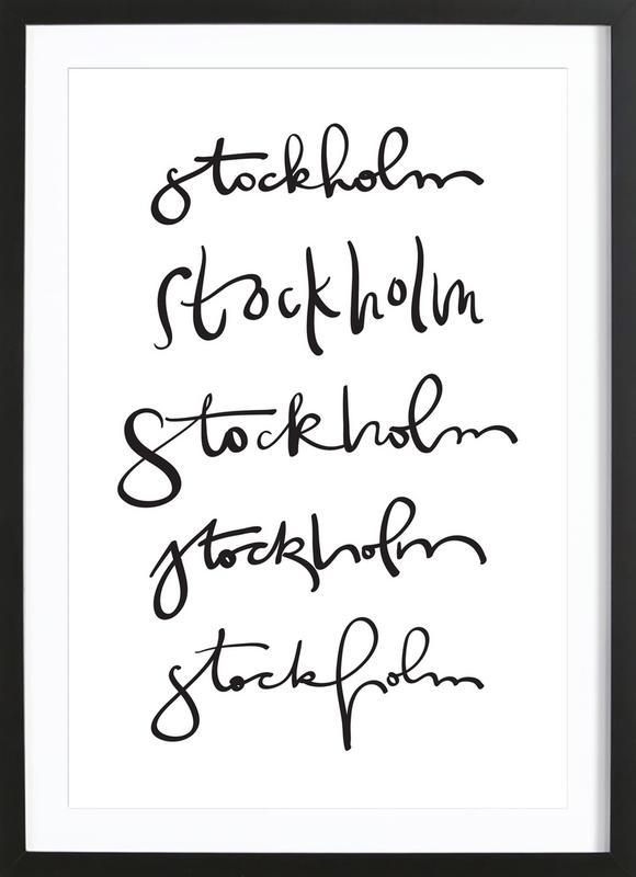 Stockholm -Bild mit Holzrahmen