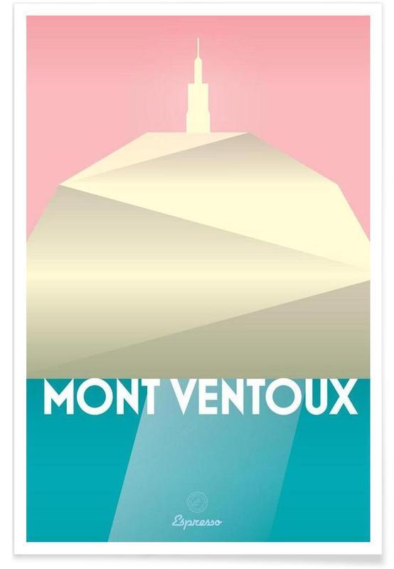 Radfahren, Mont Ventoux II -Poster