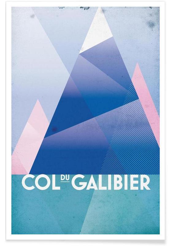 Radfahren, Col du Galibier -Poster