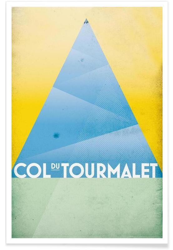 Radfahren, Col du Tourmalet -Poster