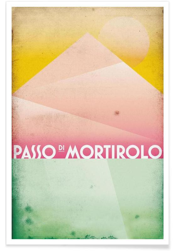 Radfahren, Passo di Mortirolo -Poster