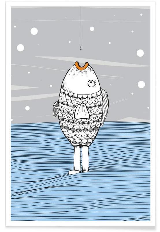 Art pour enfants, Catch The Fishman affiche