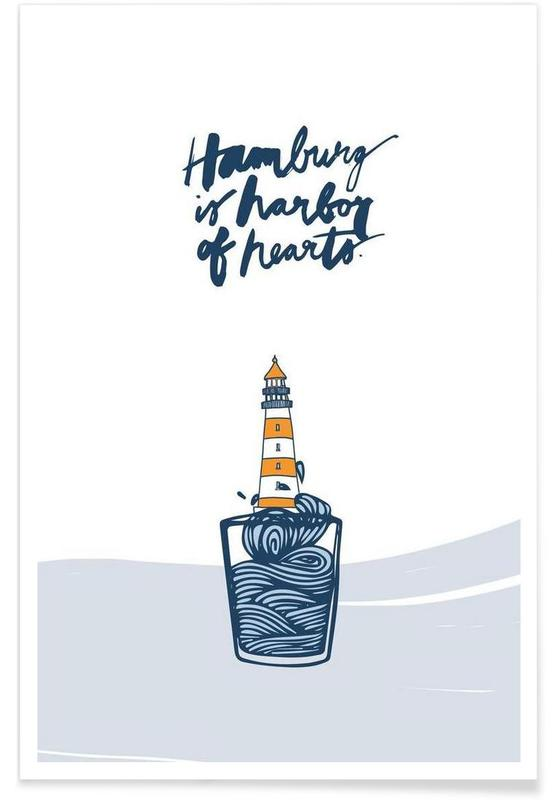 Hamburg, Harbor of Hearts poster