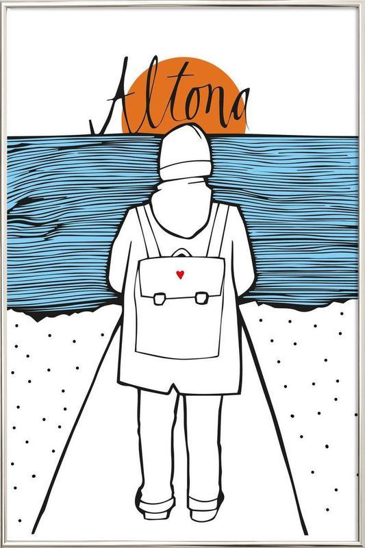 Küstenkind -Poster im Alurahmen