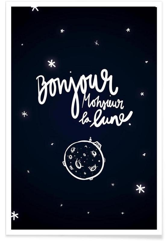 Monsieur la lune -Poster