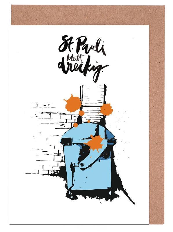 Street Art, St. Pauli Bleibt Dreckig cartes de vœux