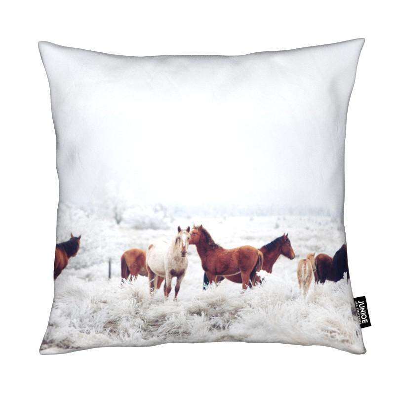 Chevaux, Winter Horseland coussin