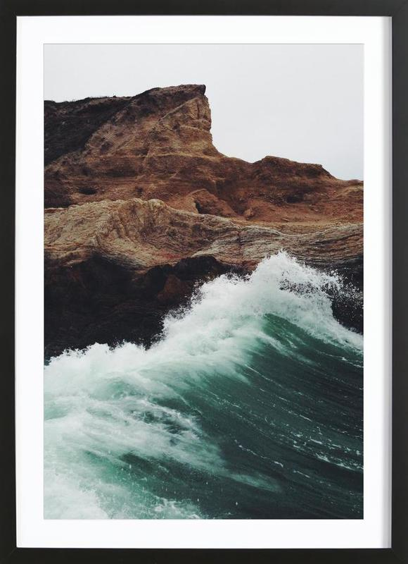 Montana Wave -Bild mit Holzrahmen