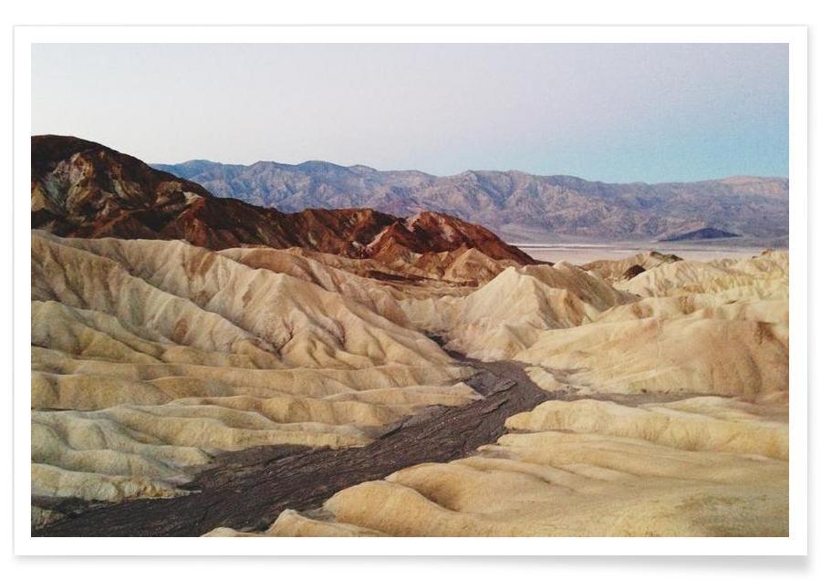 Deserts, Zabriskie Point Poster
