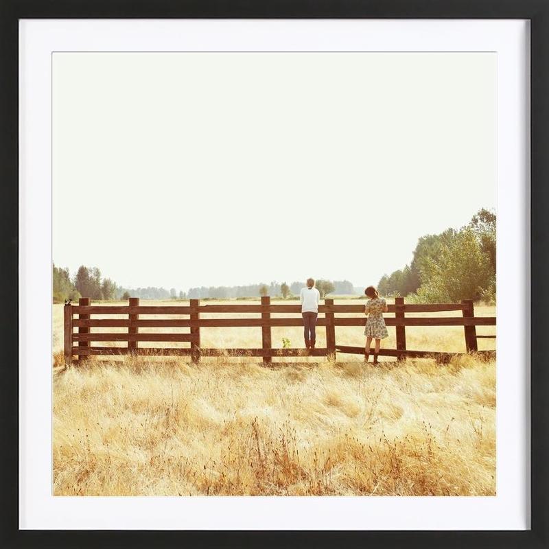 Fence Standing -Bild mit Holzrahmen