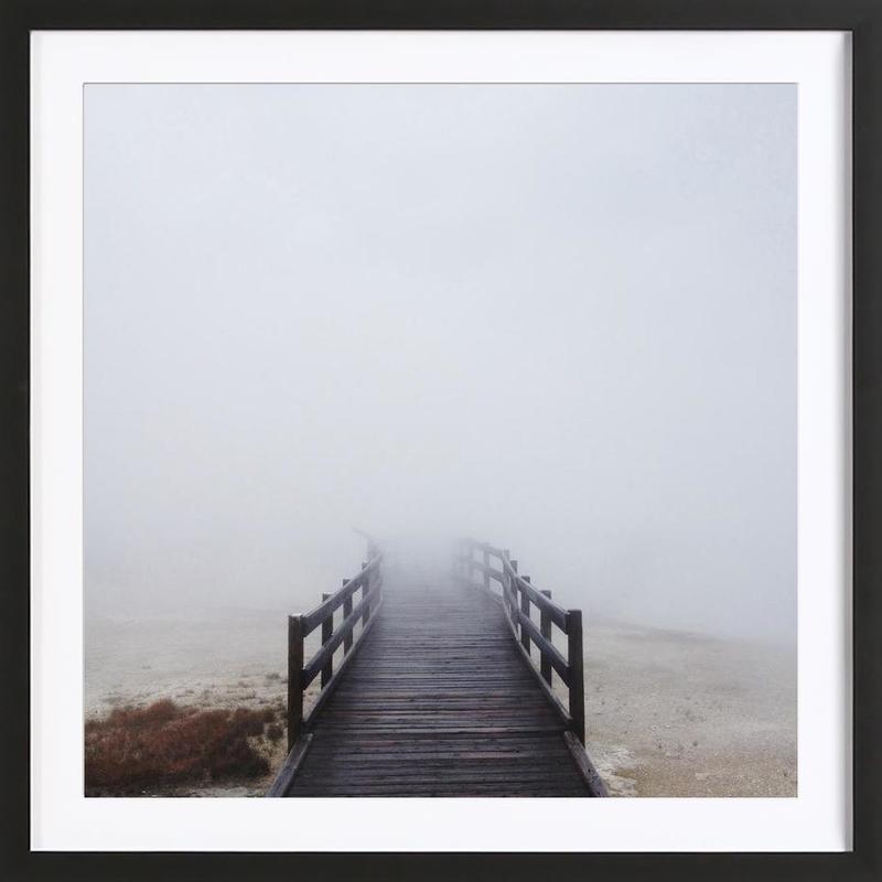 Geyser Steamway -Bild mit Holzrahmen