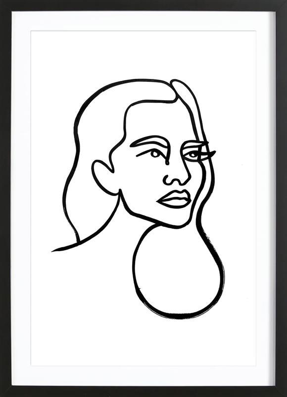 Ursula ingelijste print