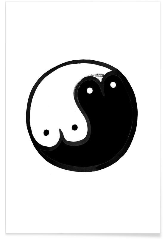 Boob Yin Yang affiche