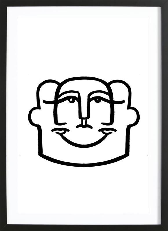 Merged Faces 4 ingelijste print