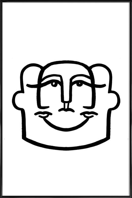 Merged Faces 4 ingelijste poster